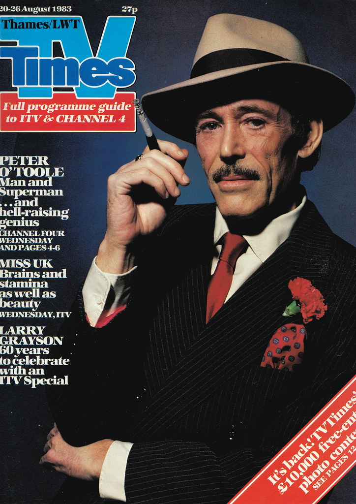 Peter OToole  TV TIMES 2026 Aug 1983 cover  Cover of RAD  Flickr