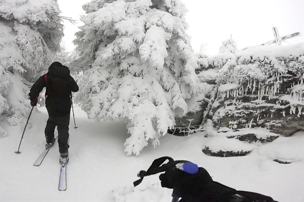 Královna zima u vrcholových skalisek Smrčiny