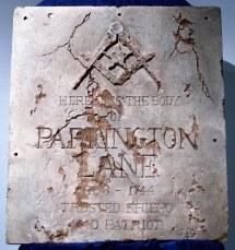 Parkington Lane Grave Marker National Treasure