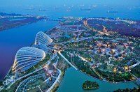 Aerial View of Gardens by the Bay from SkyPark, Marina Bay ...