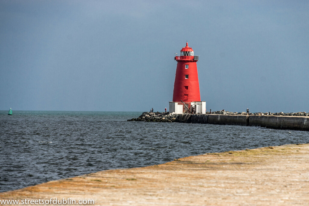 Poolbeg Lighthouse in Dublin Bay was built in 1768  Flickr