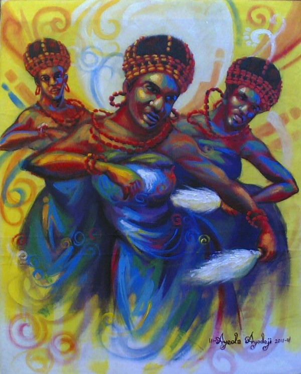 African Art Paintings Children