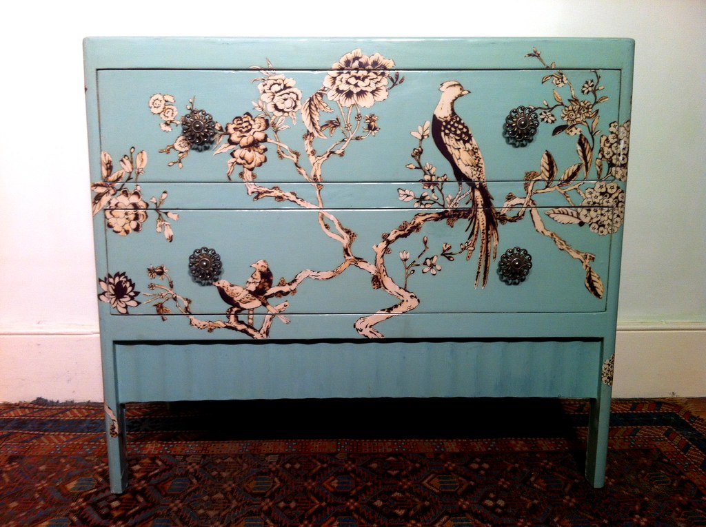 decoupage furniture wedgwood chest of drawers 8  Martin