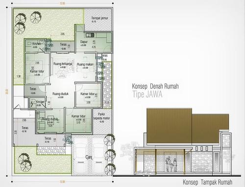 Konsep Rumah Tipe JAWA  Rumah ini memiliki konsep teras