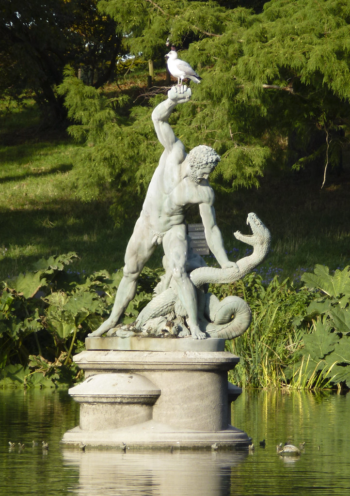 Hercules wrestling the river god Achelous  This statue stan  Flickr