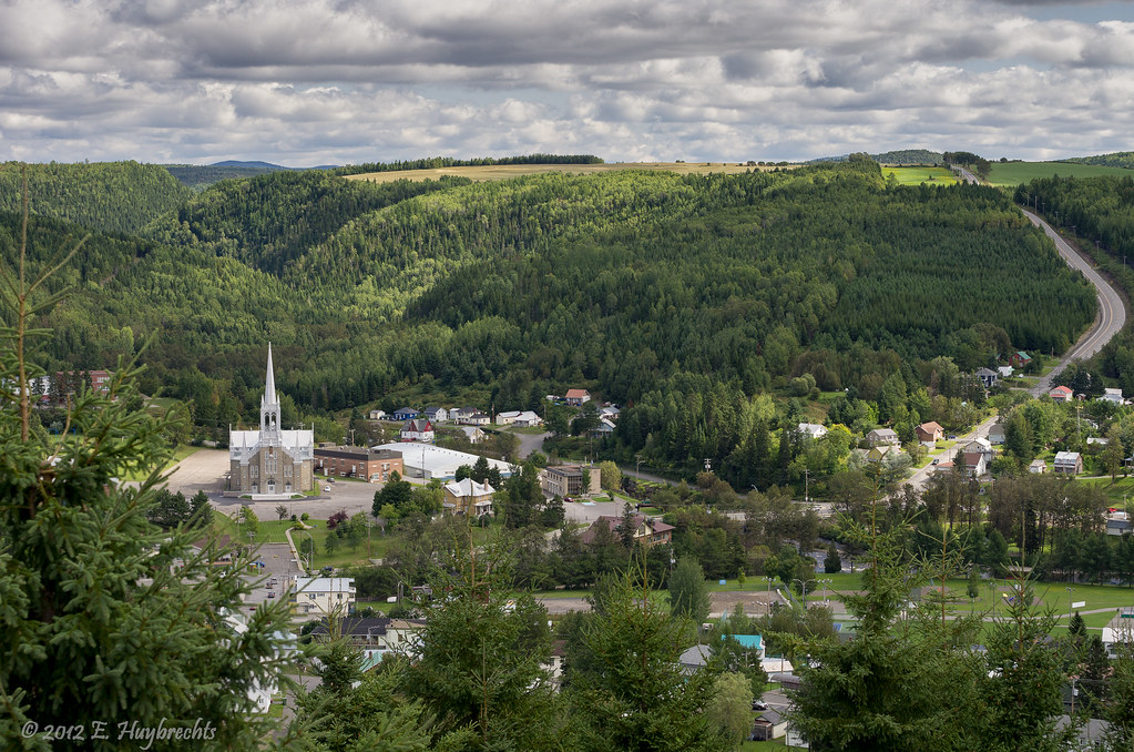 Village de Causapscal Qubec Aerial view  Dans la valle  Flickr