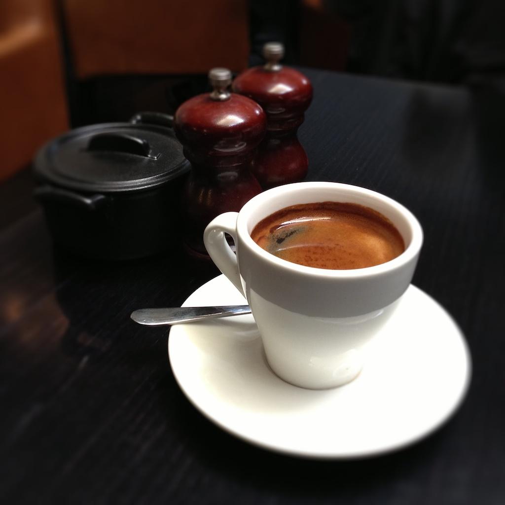 Long black coffee at Morris Jones in Windsor  A tranquil