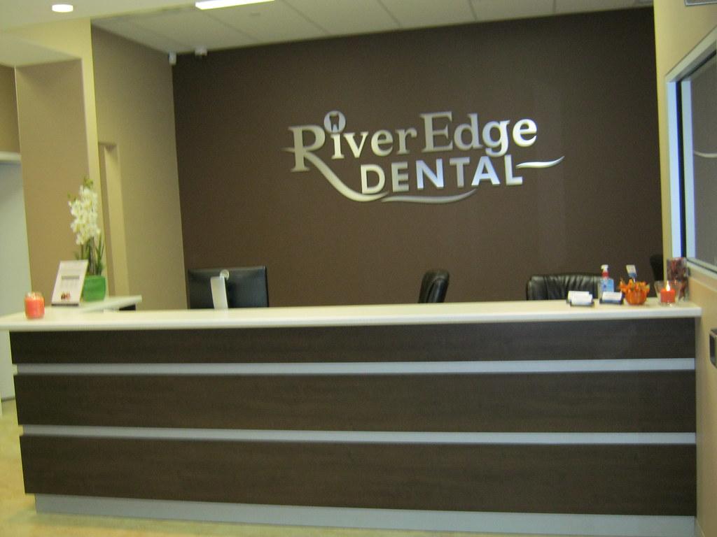 Dental reception desk at RiverEdge Dental in Orangeville