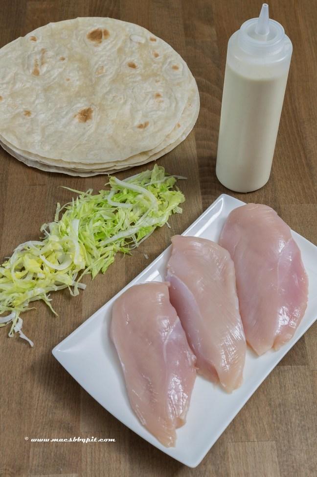 Foodporn Chicken Guacamole Wraps