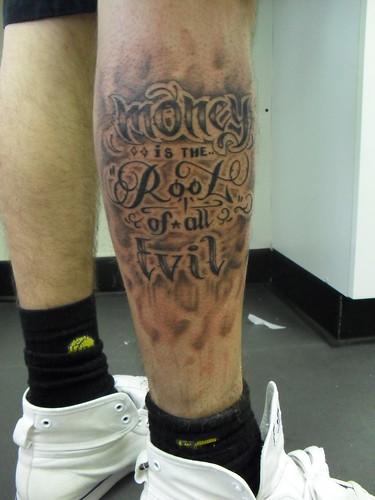All Evil Root Tattoo Money Designs
