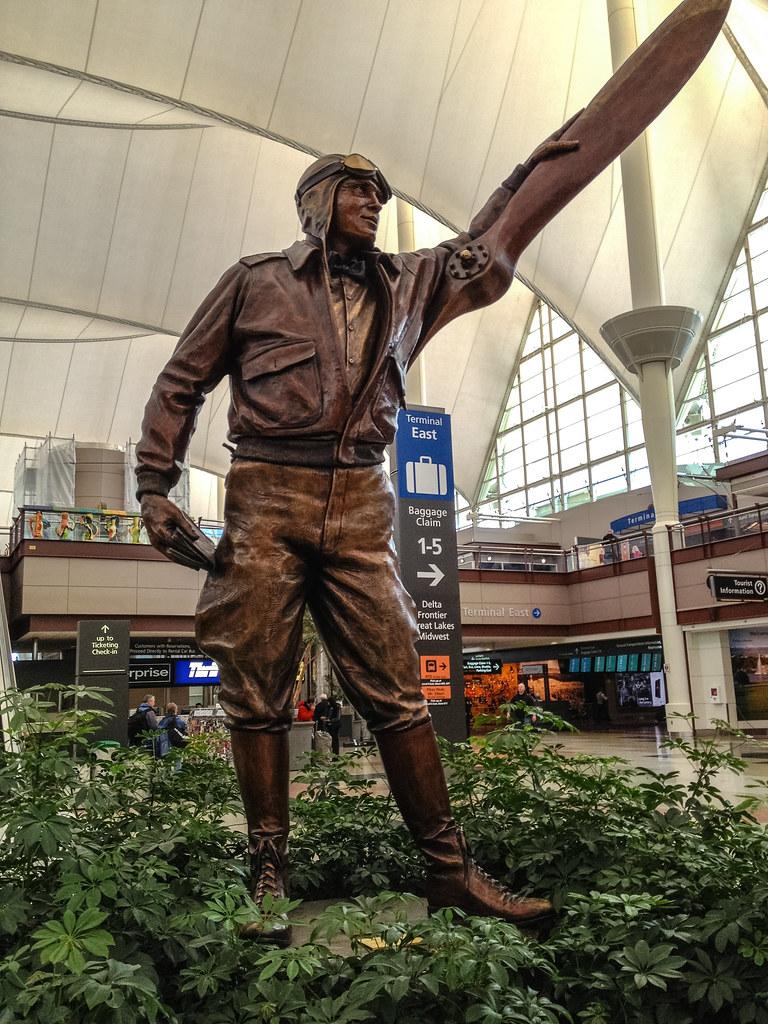 Sculpture In The Main Terminal At Denver International Air