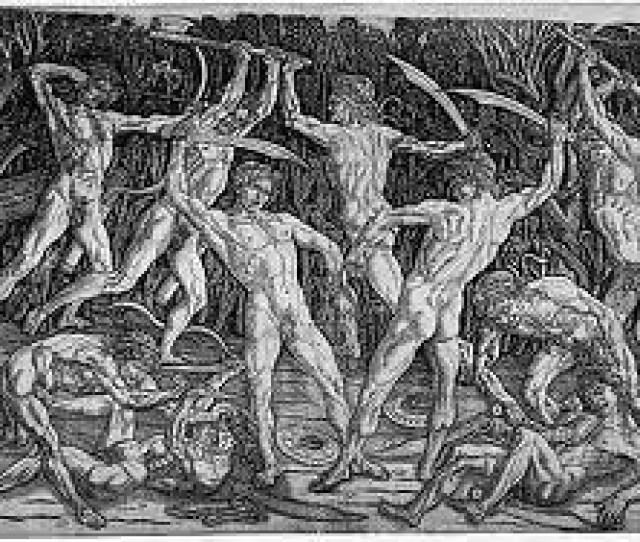 Battle Of The Ten Nudes Pollaiuolo By Jennifer Mei