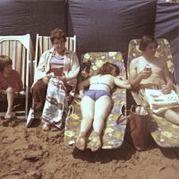 Sunbathing - 1970s | Lisa, Else, Sandra and Neil on the ...