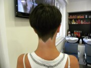 geometric buzzed nape short haircuts