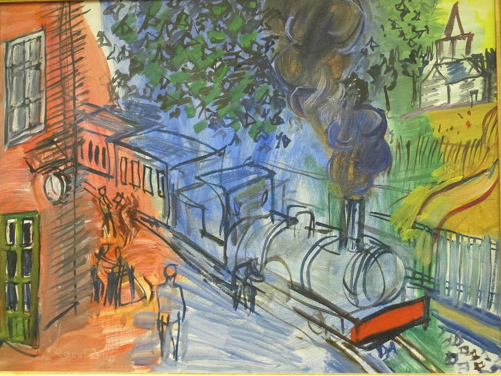 Train en gare Raoul Dufy 18771953  La Piscine Muse   Flickr
