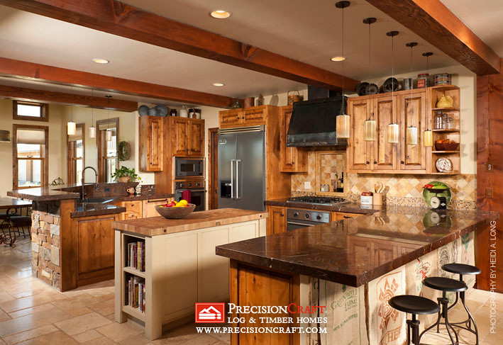 Custom Kitchen  Timber Frame Home by PrecisionCraft  Flickr