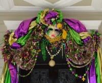 Fancy Mardi Gras door decorations   Monceau   Flickr