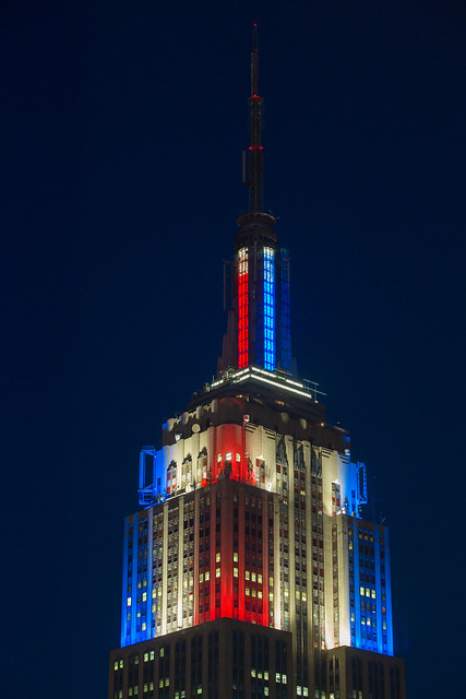 Empire State Building LED live election results Obama