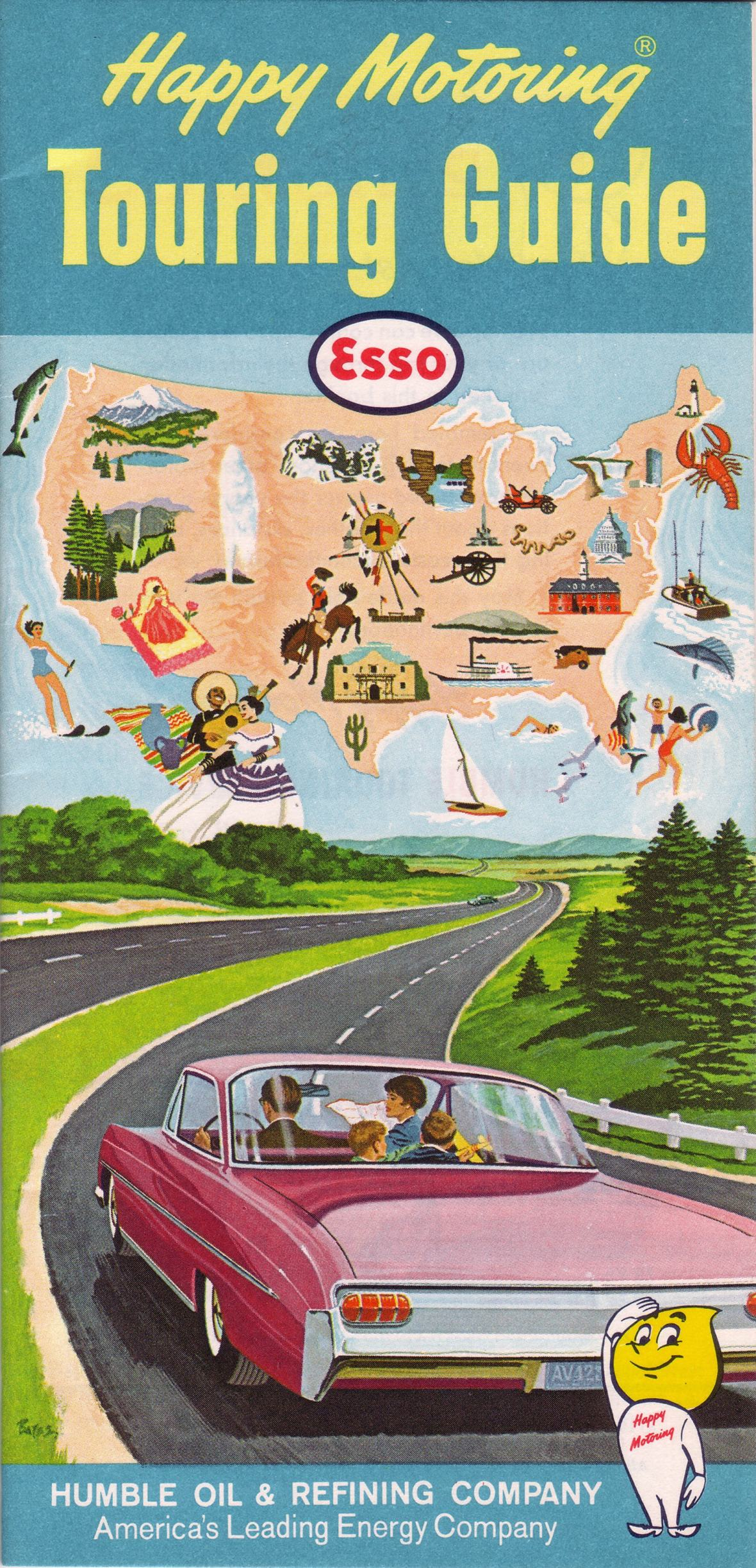 Esso Touring Guide front cover - 1964