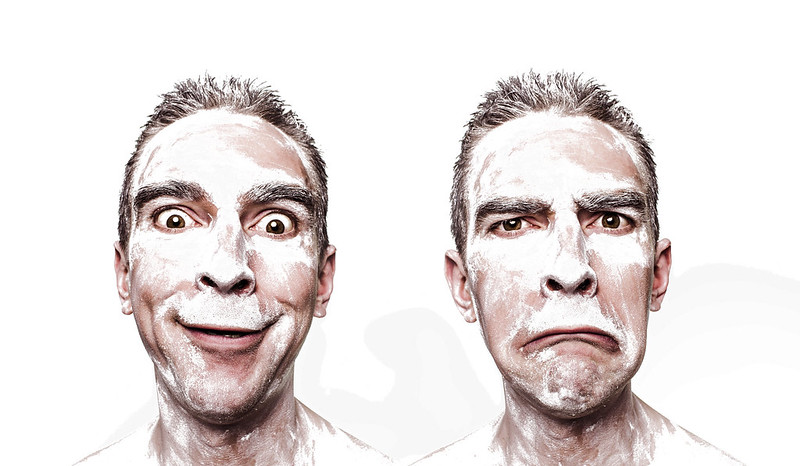 Contrasting Emotions; emotions man happy sad face adult male people; Pixabay