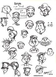 cartoon boys attitudes styles