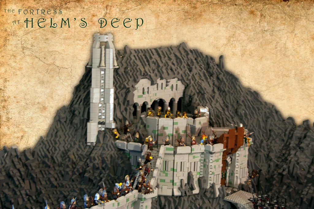 The Fortress at Helms Deep  Tight on the Face of Helms