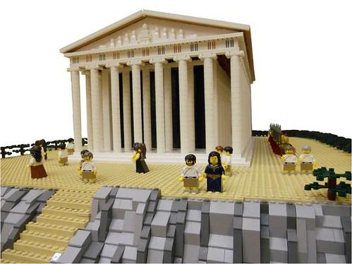LEGO Ancient Greek Temple  Part of Ancient Greek LEGO