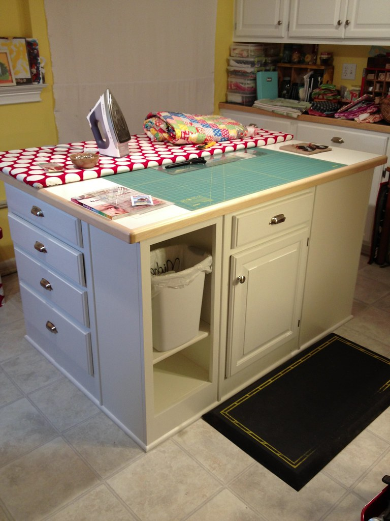 Craft room island makeover is complete  There used to be