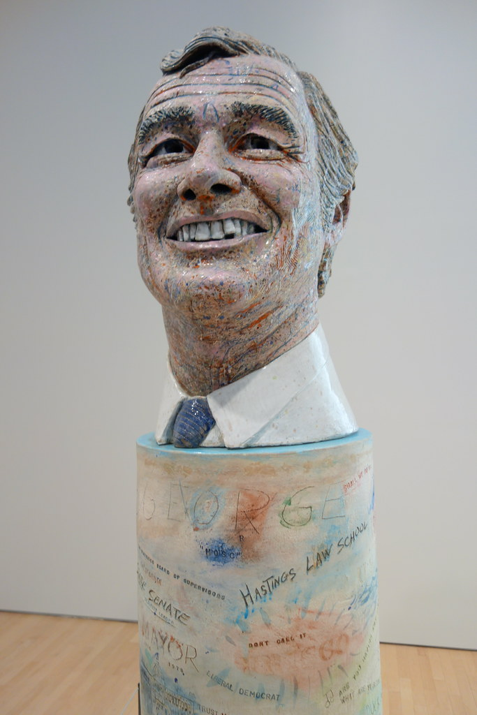Controversial George Moscone Sculpture By Robert Arneson A