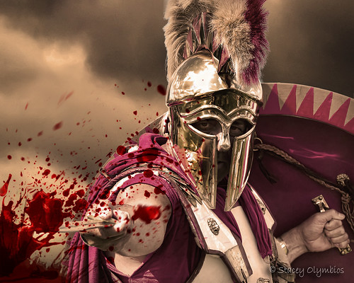 Spartan  Spartan soldier doing what they do best Photo