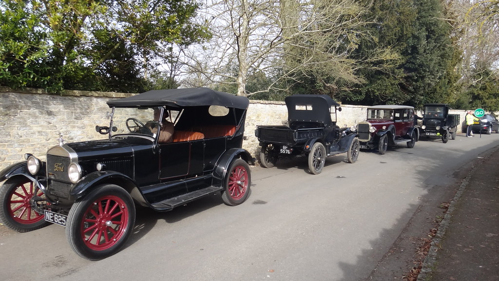 Vintage Cars Awaiting Filming For Downton Abbey Iain