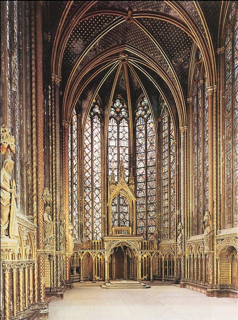 Interior de la Sainte Chapelle  La imagen nos muestra el
