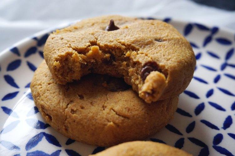 Soft gluten free pumpkin chocolate chip cookies