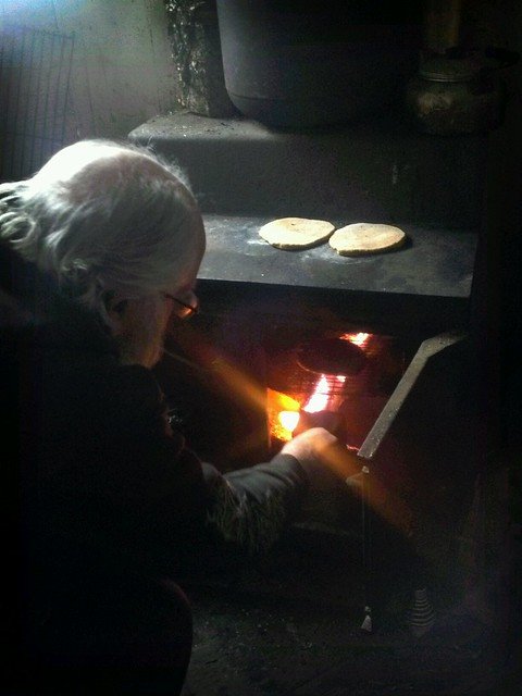 Flat Breads on the fire