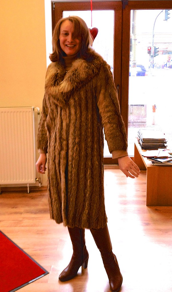 Ready for a cold day in Berlin  Vintage coyote fur coat th  Flickr
