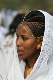 ethiopian woman with traditional