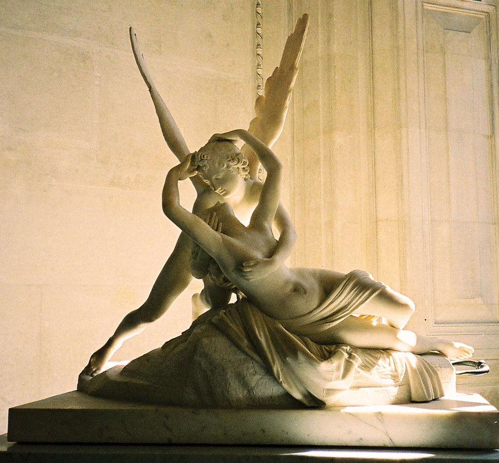 Psyche Revived By Cupids Kiss Antonio Canova Happy