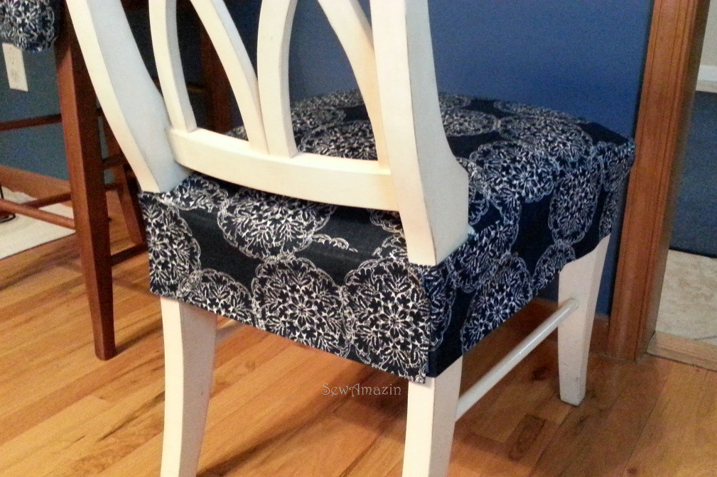 DiningKitchen Chair Seat Cover Back View Finished
