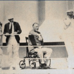 Wheel Chair Ramp Wedding Chairs Hire Johannesburg Fdr In Wheelchair Aboard Uss Indianapolis 1933 - Presi… | Flickr
