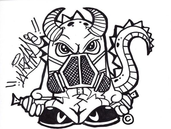 Graffiti Cartoon Characters By Wizard