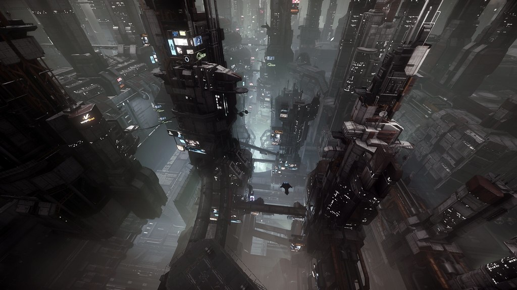 Hd City Wallpapers For Mobile Star Citizen Penthouse View In Area 18 In Game