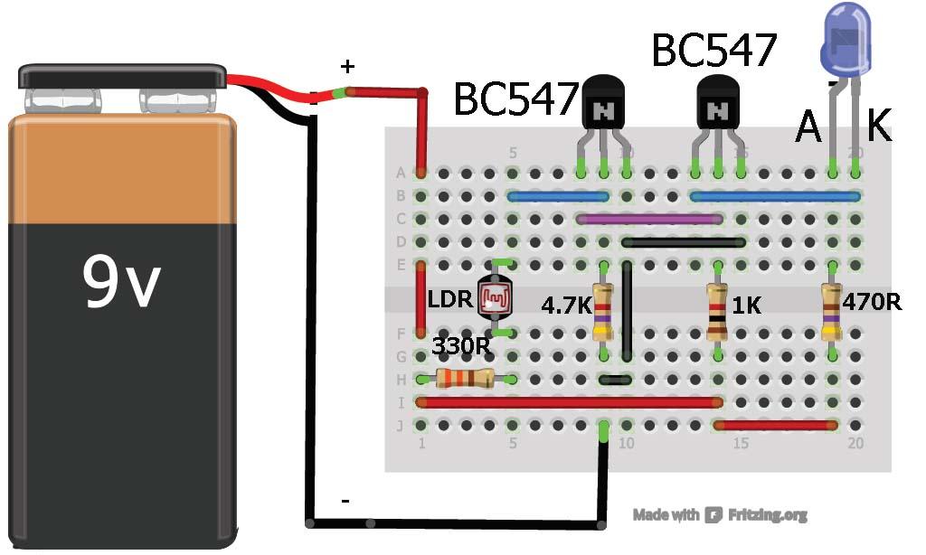 Basic Electrical Wiring Diagrams Lights Series Dark Sensor Using Transistor Photodiode And Phototransist