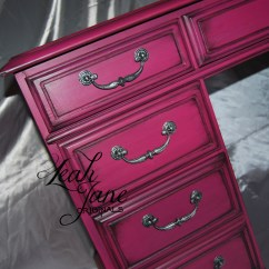 Hot Pink Office Chair Toddler Plush Hand Painted Furniture Desk 4