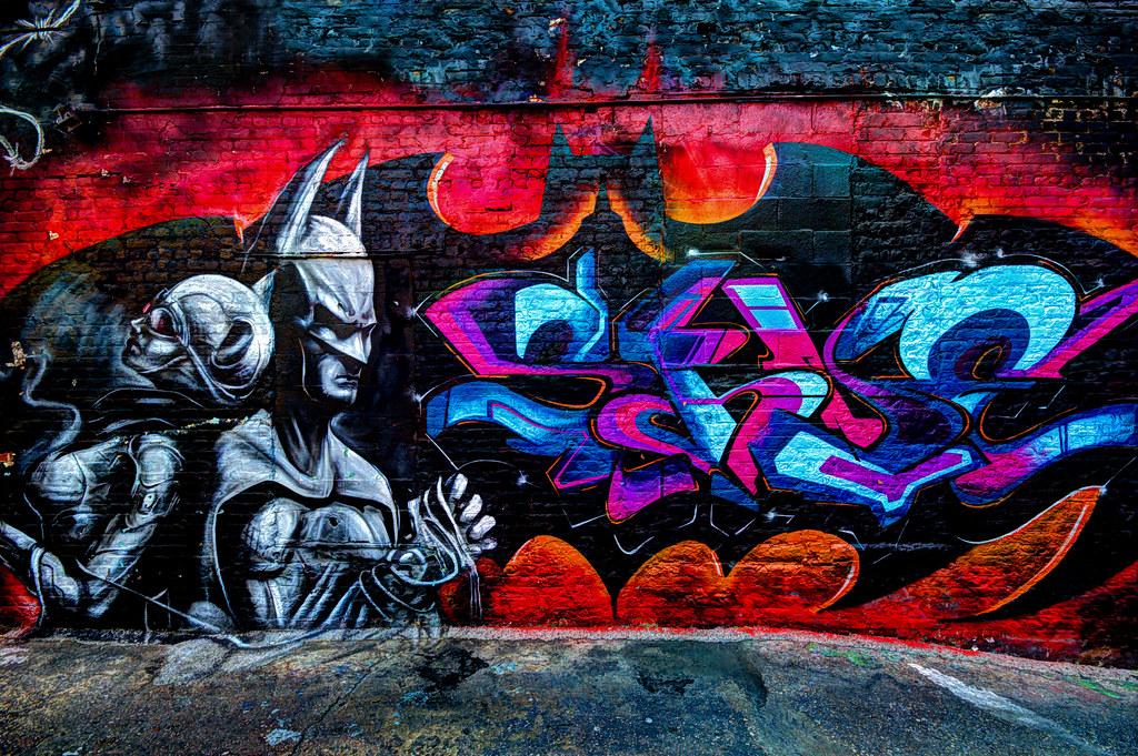 3d Street Wallpaper Batman And Catwoman At 5pointz Graffiti Art Center Long I