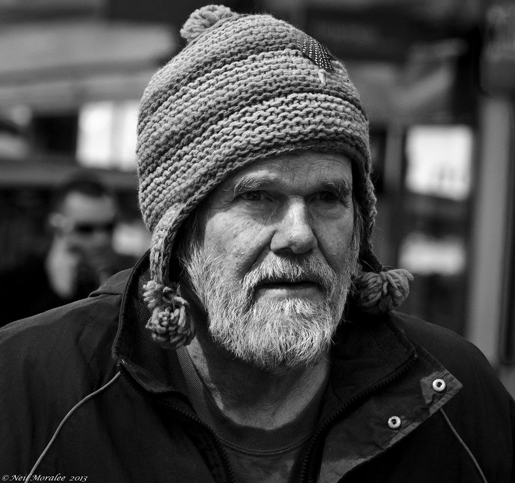 England Beard and a bobble hat. | street shot in