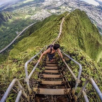 The amazing Haiku Stairs or Stairway to heaven 😍😍😍, Oah ...