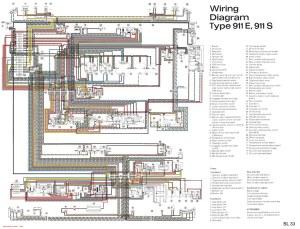 Porsche 911 wiring diagram  SL33 | JPG version of file