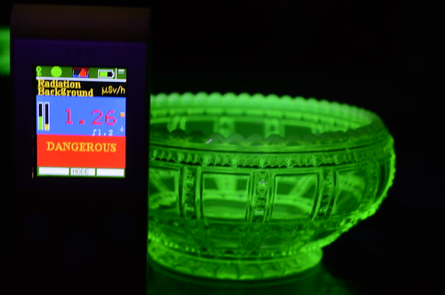 Dangerous Uranium Glass Radiation Level  Dangerous