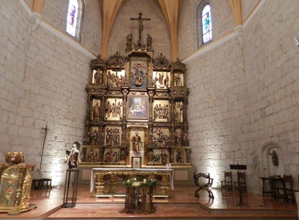 Retablo Mayor plateresco s-XVI Iglesia de San Lazaro Palencia 07