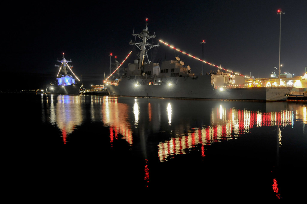 US Navy Ships Are Decorated For Christmas SAN DIEGO